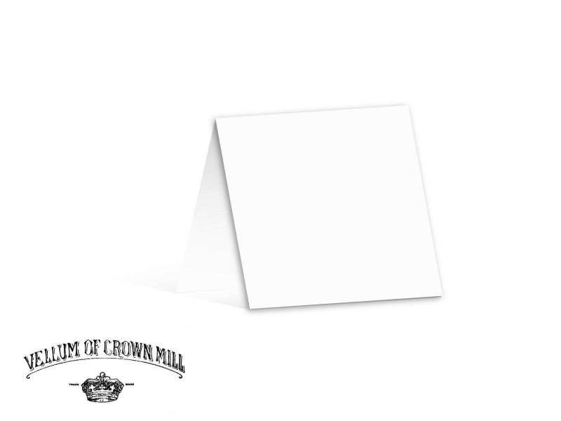 Carte double velin format 13,5x27cm - Blanc