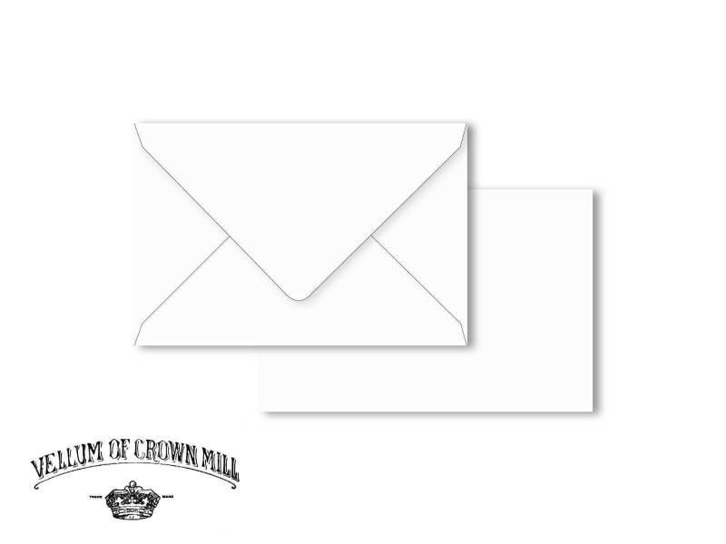 Enveloppe velin format 12x18cm - Blanc