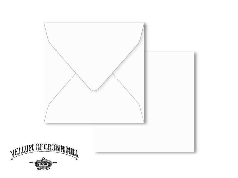 Enveloppe velin format 16,5x16,5cm - Blanc