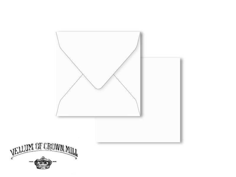 Enveloppe velin format 14x14cm - Blanc