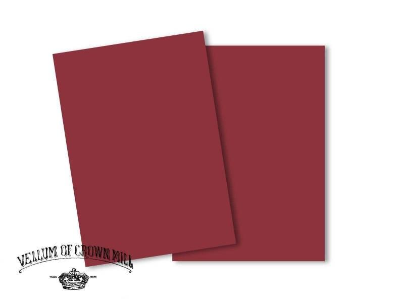 Carte velin format A5 - Palissandre