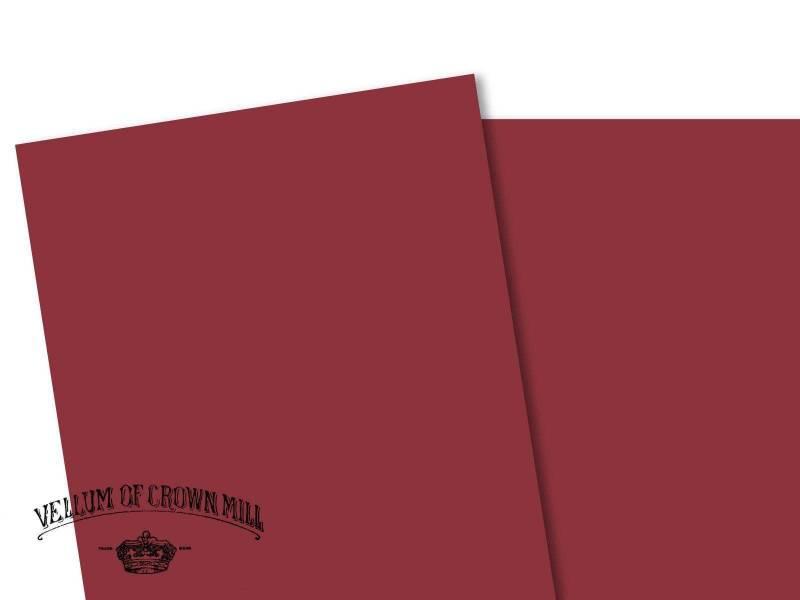 Carte velin format A4 - Palissandre