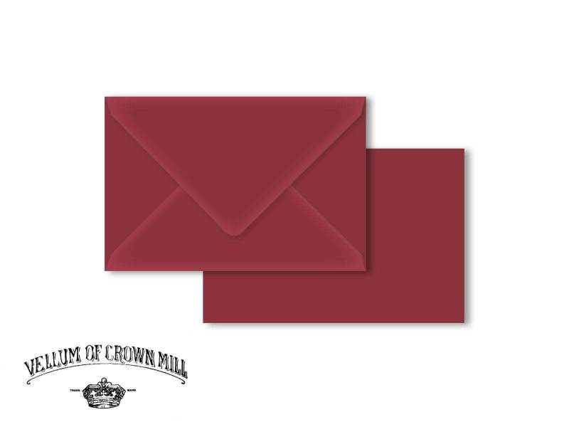Enveloppe velin format 12x18cm - Palissandre