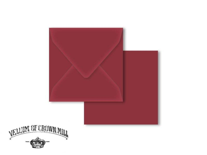 Enveloppe velin format 14x14cm - Palissandre
