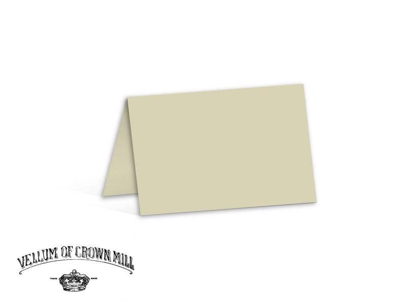 Carte double velin format 17x23cm - Cendre