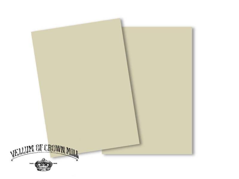 Carte velin format A5 - Cendre
