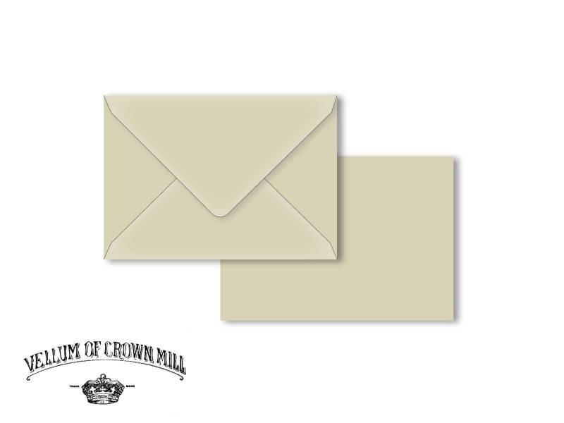 Enveloppe velin format C6 - Cendre