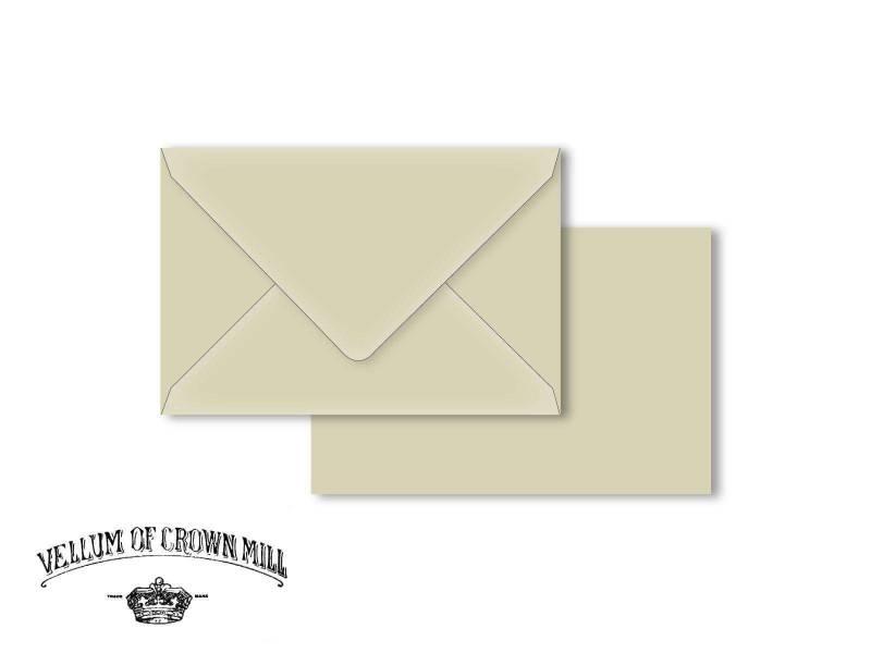 Enveloppe velin format 12x18cm - Cendre