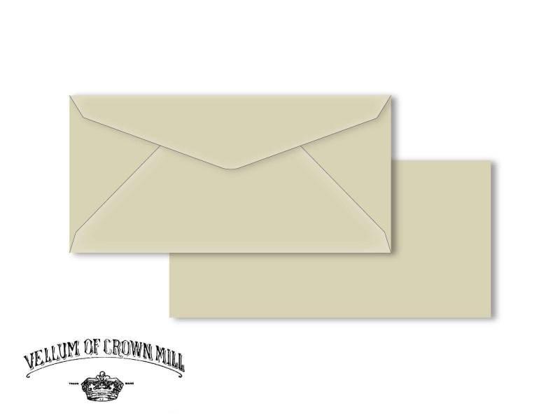 Enveloppe velin format DL - Cendre