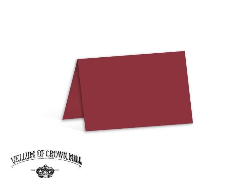 Carte double velin format 17x23cm - Palissandre