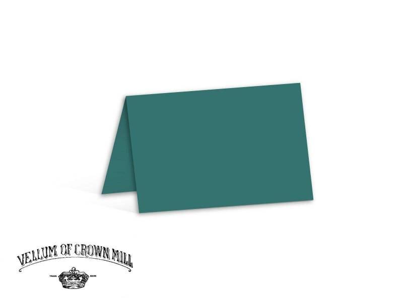 Carte double velin format 17x23cm - Turquoise