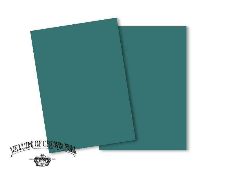 Carte velin format A5 - Turquoise