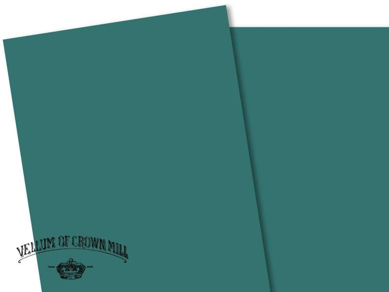 Carte velin format A4 - Turquoise