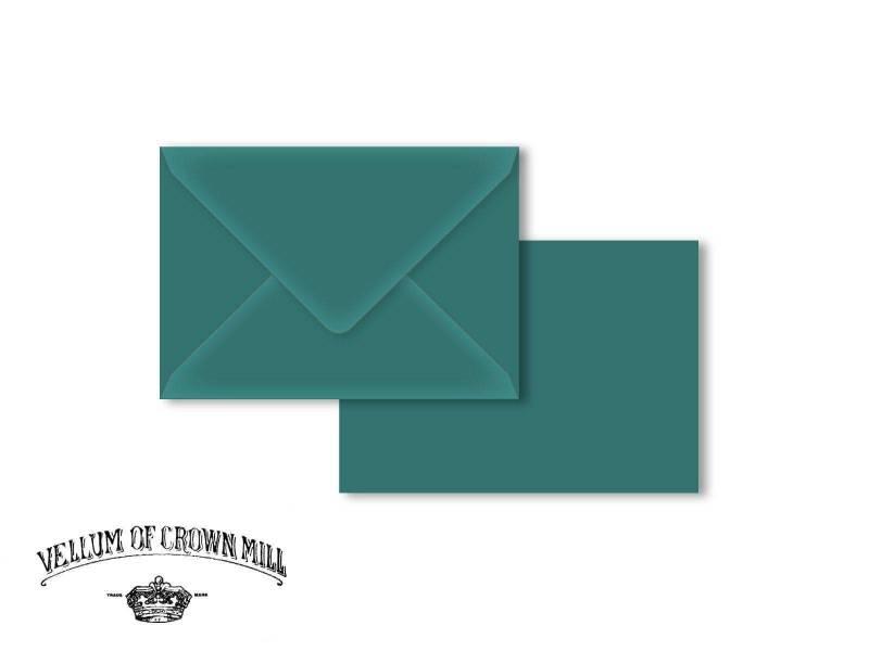 Enveloppe velin format C6 - Turquoise