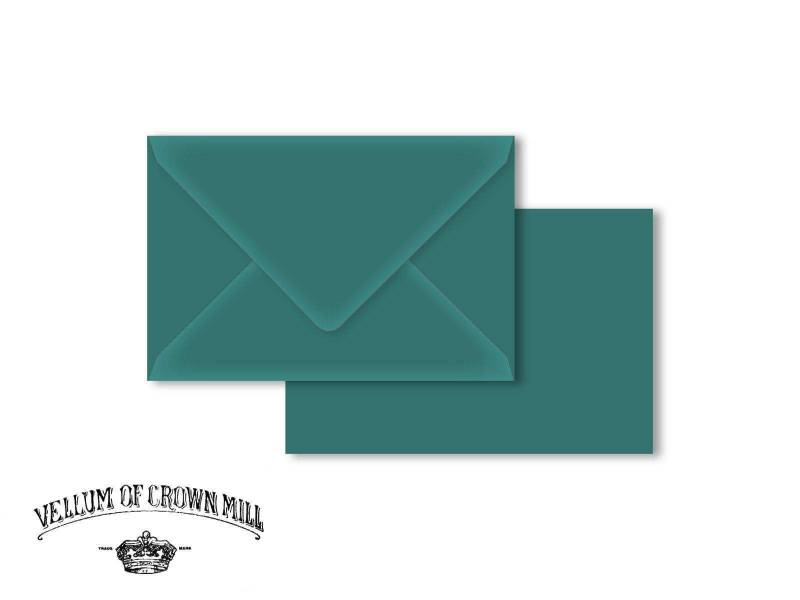 Enveloppe velin format 12x18cm - Turquoise