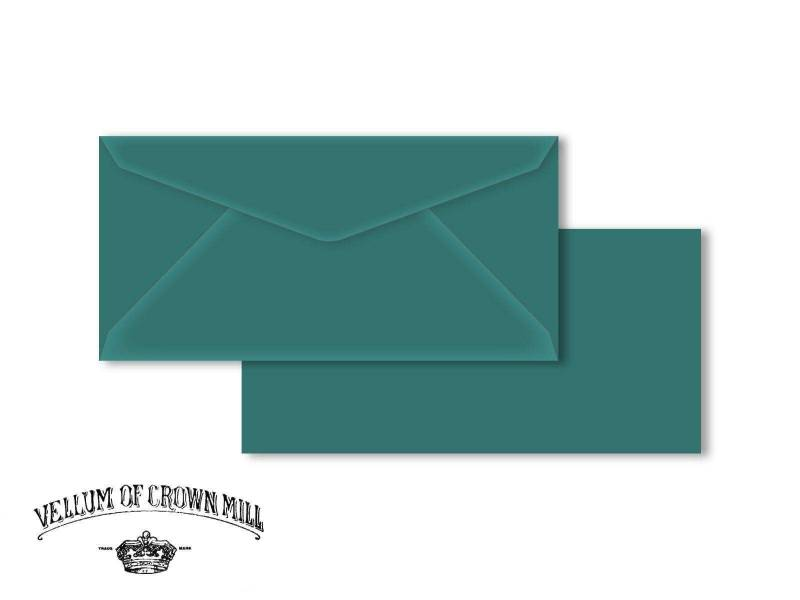 Enveloppe velin format DL - Turquoise