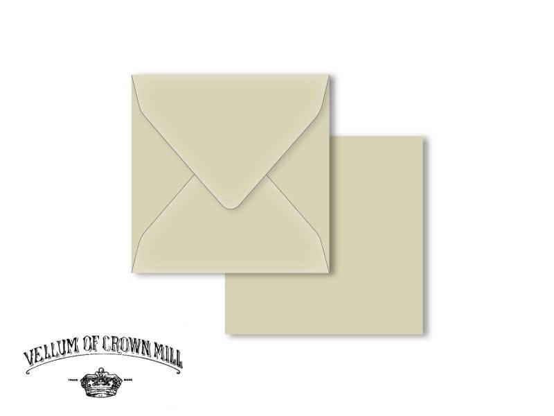 Enveloppe velin format 14x14cm - Schiste
