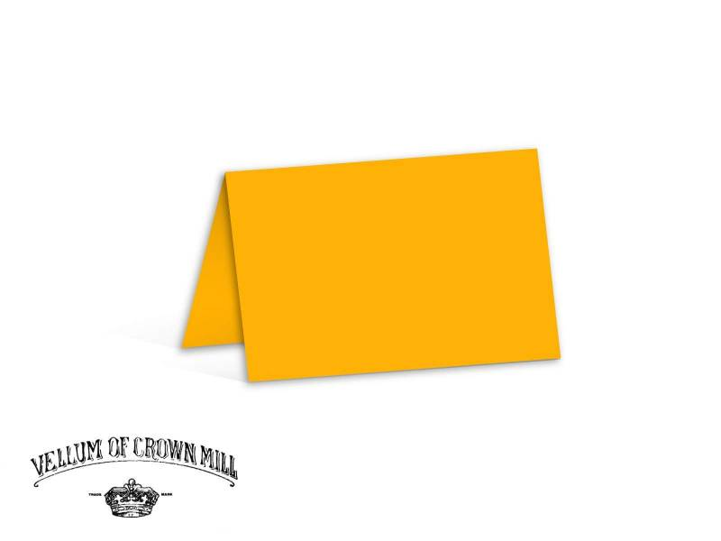 Carte double velin format 17x23cm - Mangue