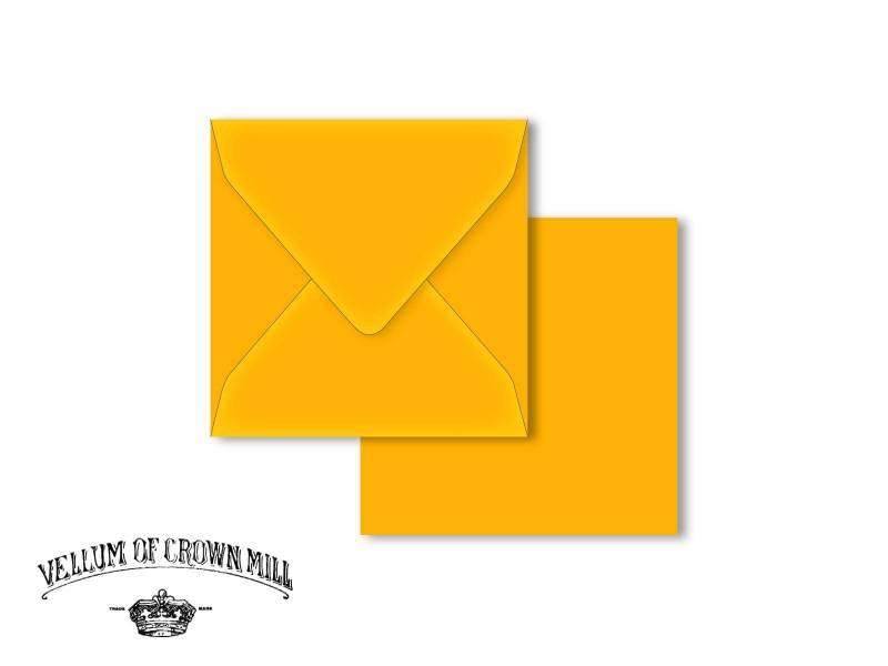 Enveloppe velin format 14x14cm - Mangue