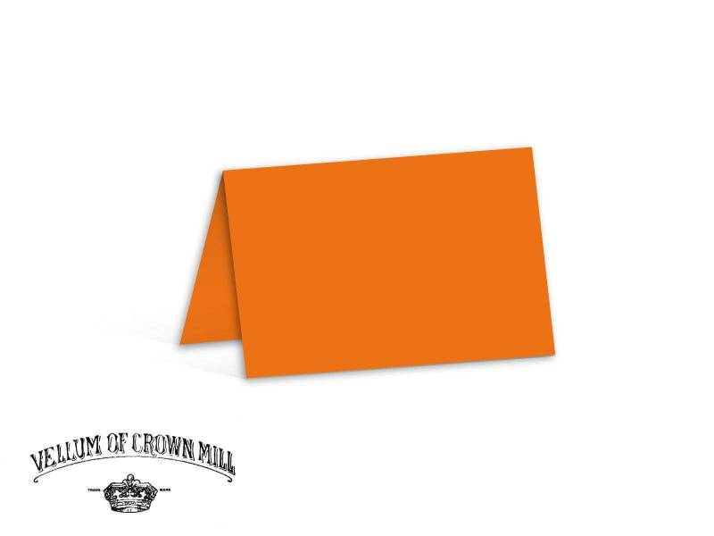 Carte double velin format 17x23cm - Orange