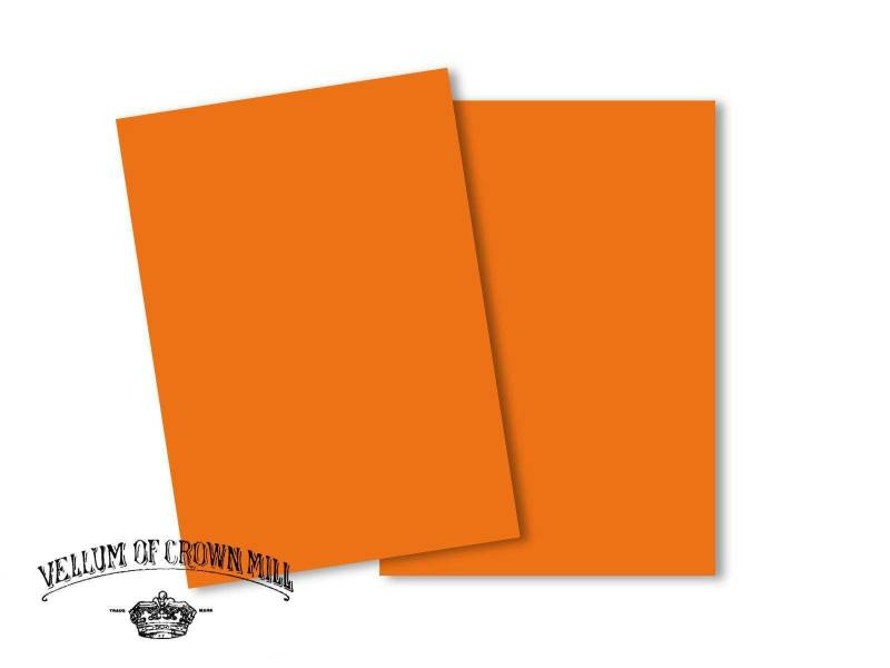 Carte velin format A5 - Orange