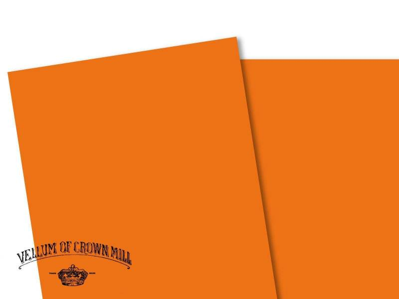 Carte velin format A4 - Orange