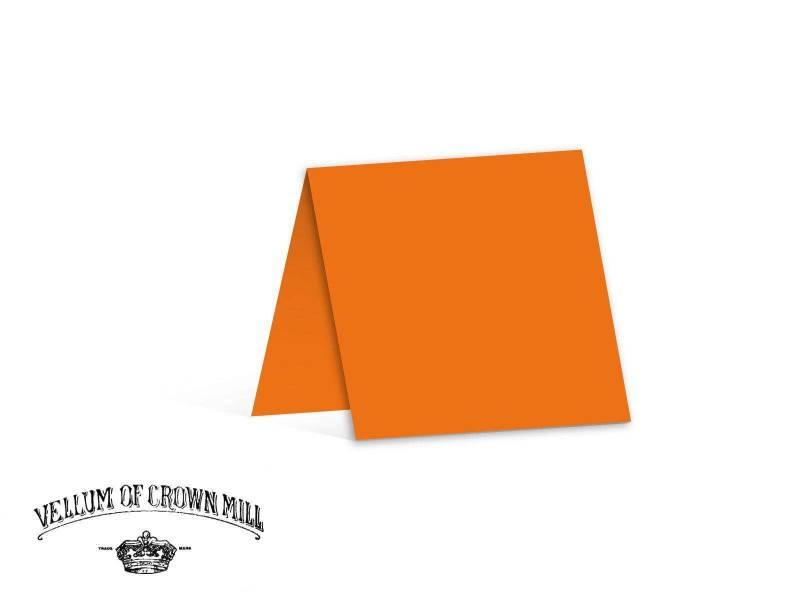 Carte double velin format 13,5x27cm - Orange