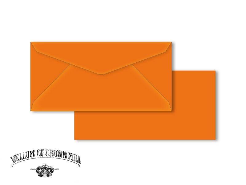 Enveloppe velin format DL - Orange