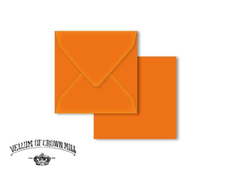 Enveloppe velin format 14x14cm - Orange