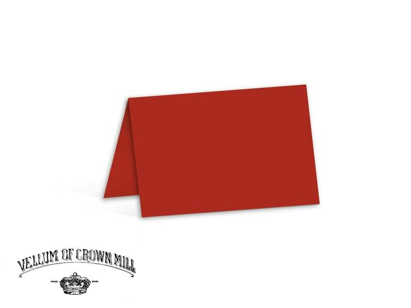Carte double velin format 17x23cm - Vermillon