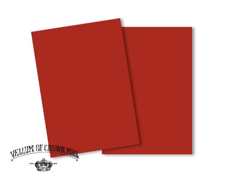 Carte velin format A5 - Vermillon