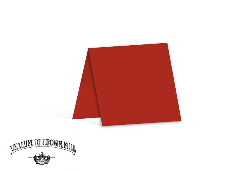 Carte double velin format 13,5x27cm - Vermillon