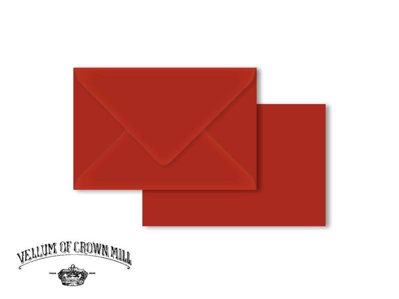 Enveloppe velin format 12x18cm - Vermillon