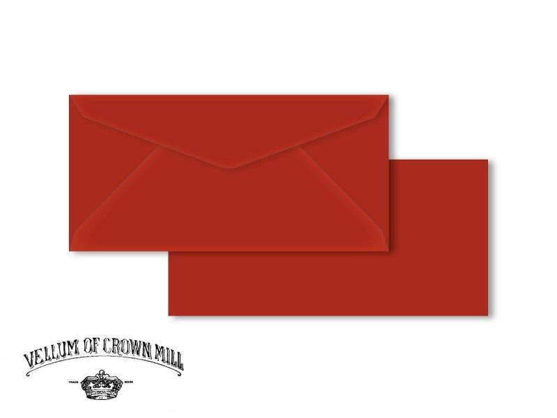 Enveloppe velin format DL - Vermillon