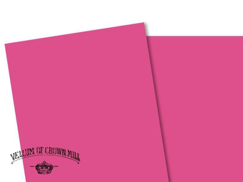 Carte velin format A4 - Bougainvillée