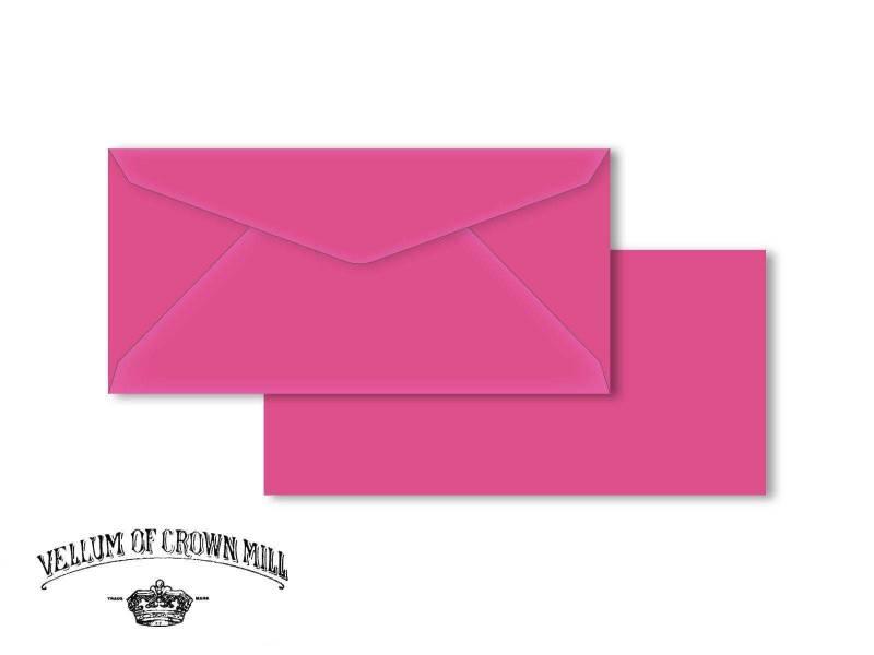 Enveloppe velin format DL - Bougainvillée