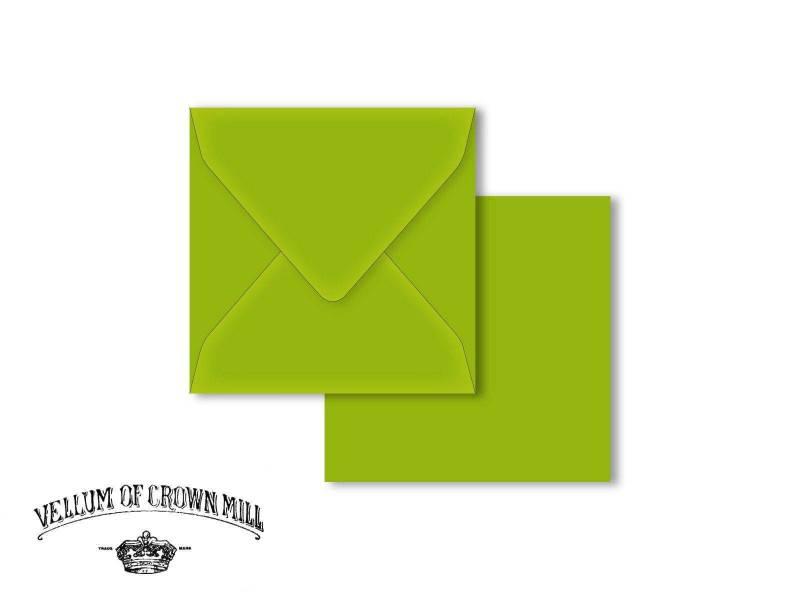 Enveloppe velin format 14x14cm - Bambou