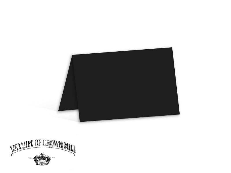 Carte double velin format 17x23cm - Noir