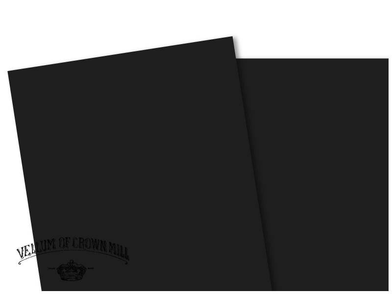 Carte velin format A4 - Noir