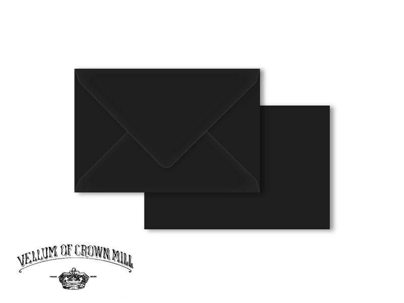 Enveloppe velin format 12x18cm - Noir
