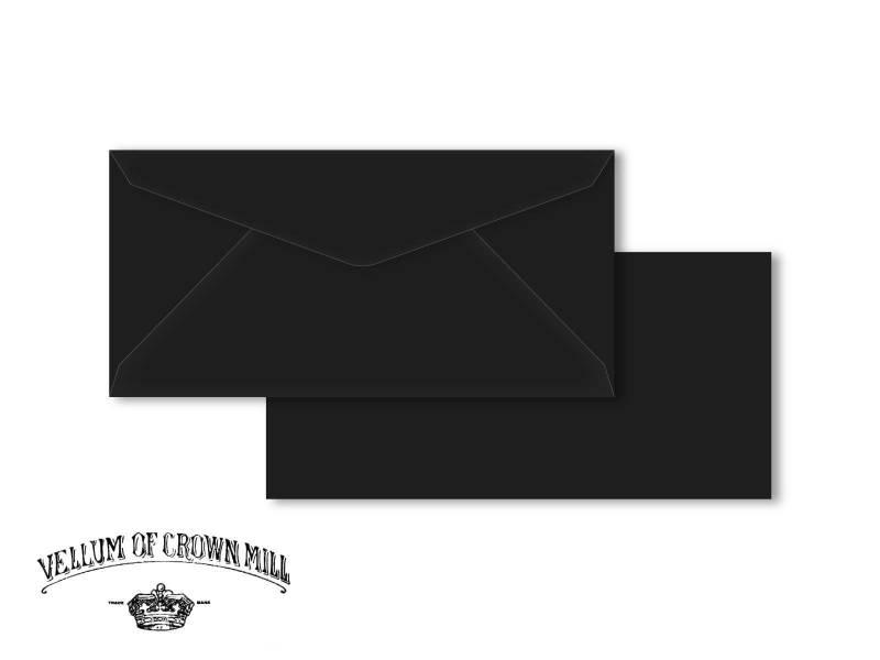 Enveloppe velin format DL - Noir