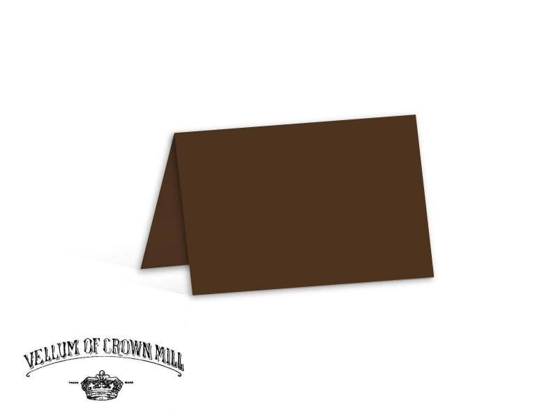 Carte double velin format 17x23cm - Tourbe