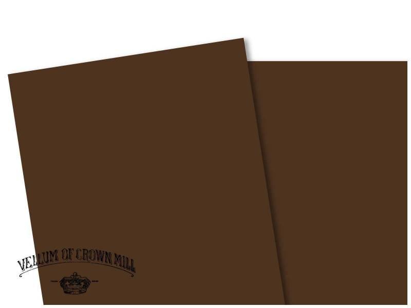 Carte velin format A4 - Tourbe
