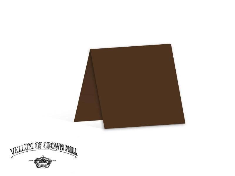 Carte double velin format 13,5x27cm - Tourbe