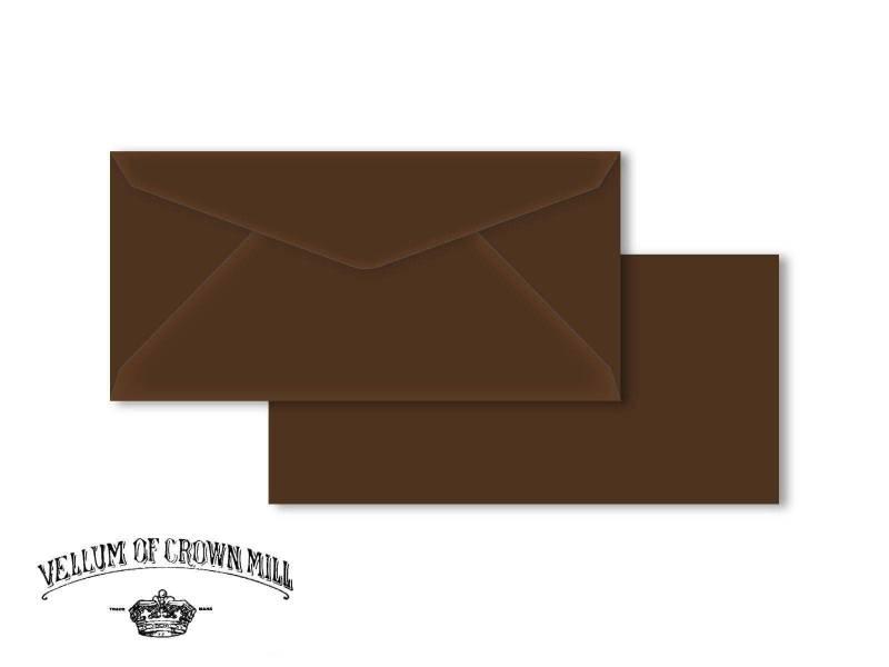 Enveloppe velin format DL - Tourbe