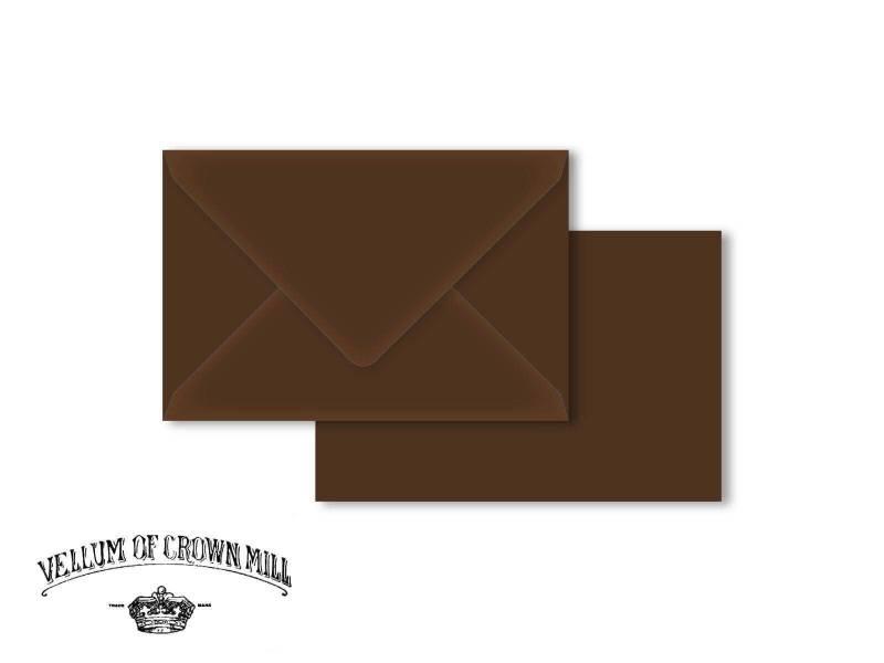 Enveloppe velin format 12x18cm - Tourbe