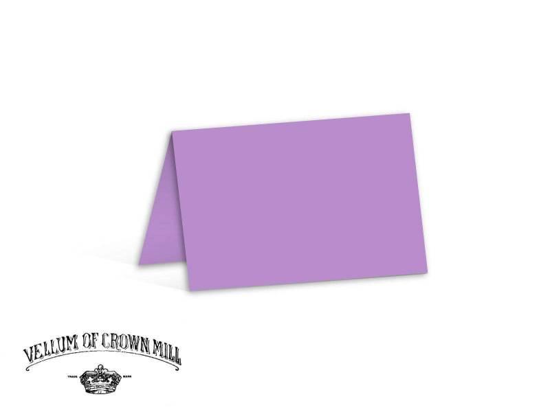 Carte double velin format 17x23cm - Lavande