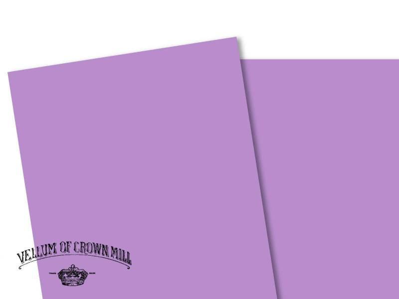 Carte velin format A4 - Lavande