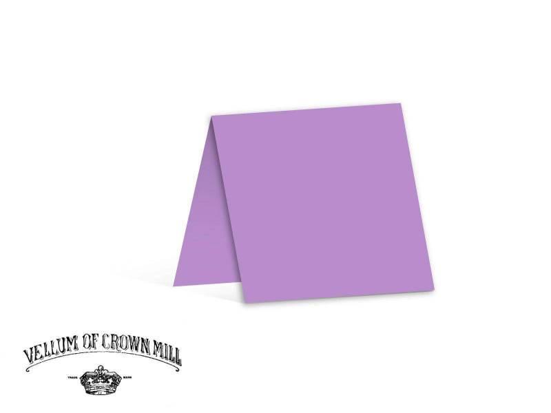 Carte double velin format 13,5x27cm - Lavande