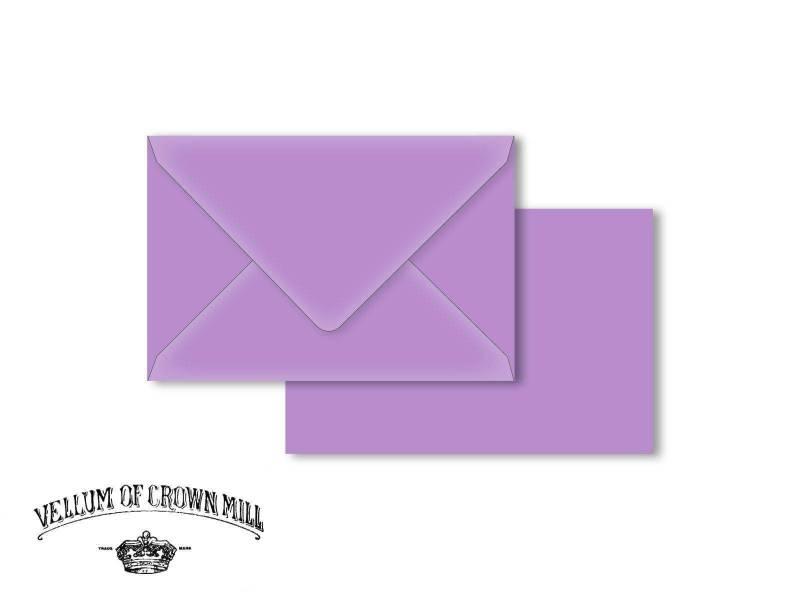 Enveloppe velin format 12x18cm - Lavande